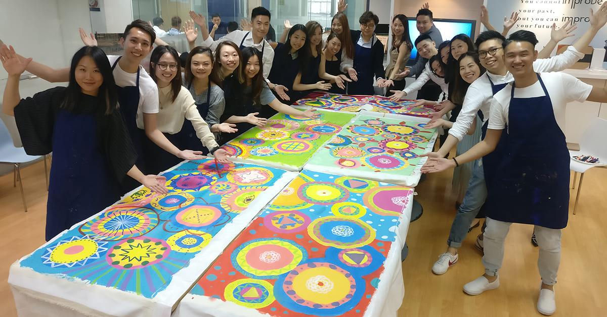 企業培訓免費工作坊 - 「Circle Painting – 共繪團隊新里程」